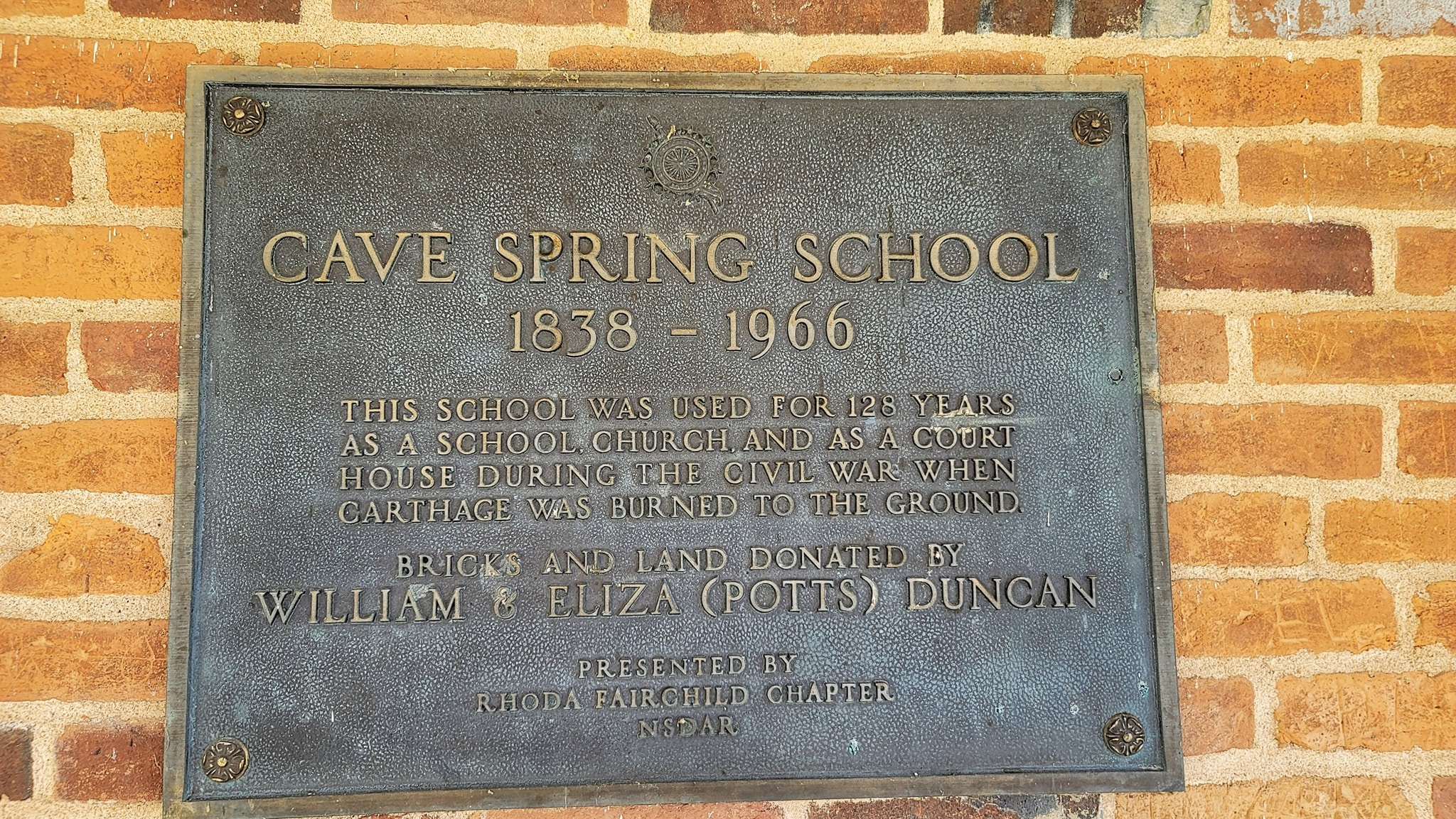 Cave Spring School – La Russell, Missouri  The school was originally a log build…