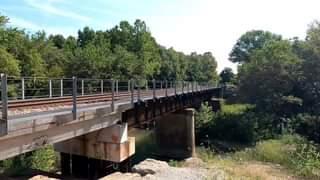 Train along the backroads of Dade County, Missouri.